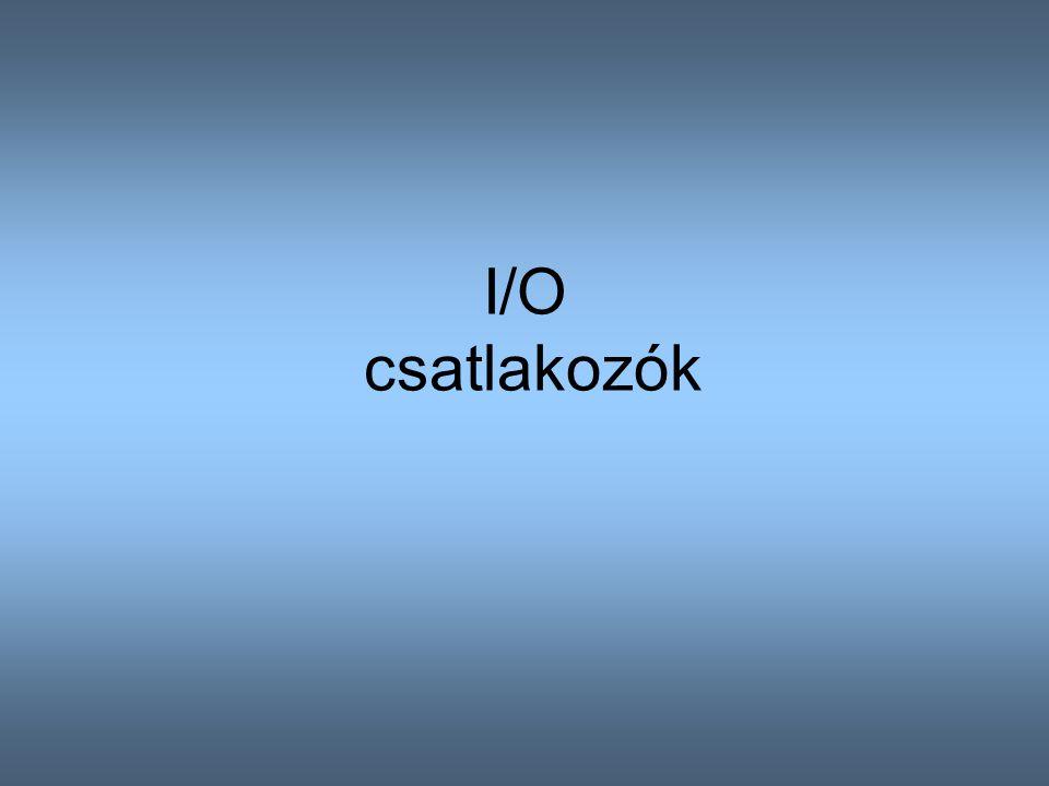 I/O csatlakozók