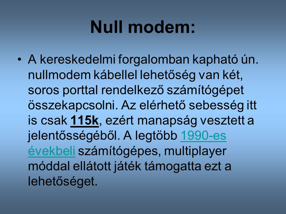 Null modem: