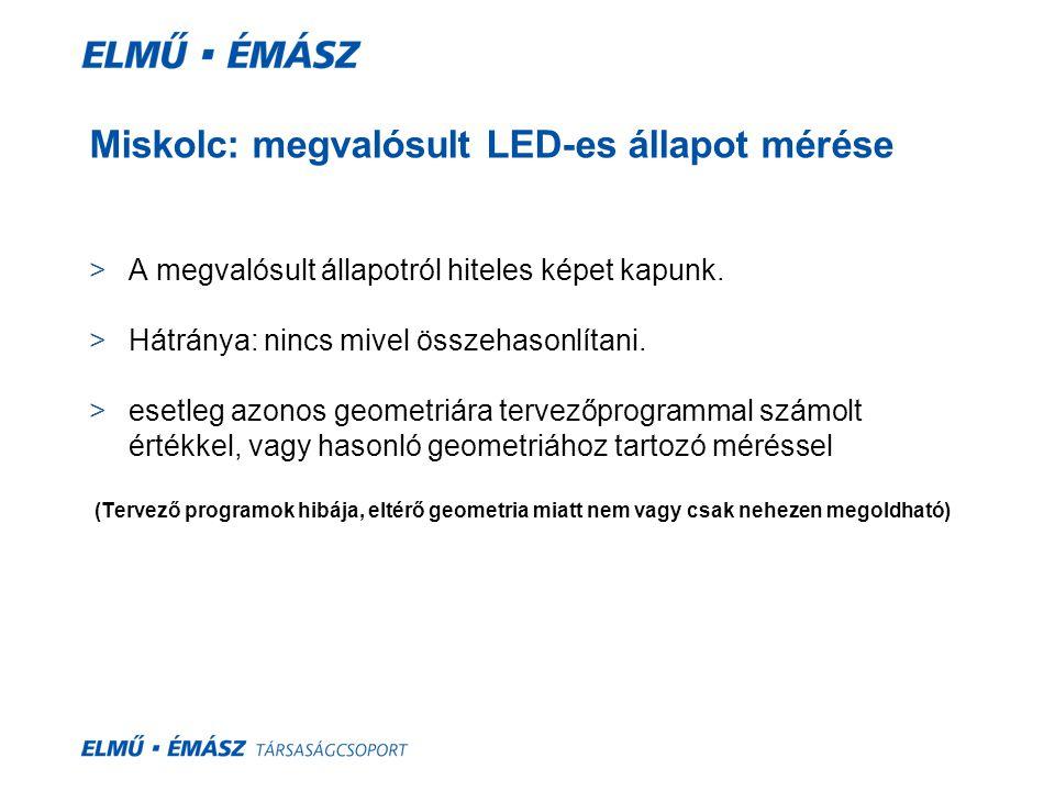 Miskolc: megvalósult LED-es állapot mérése