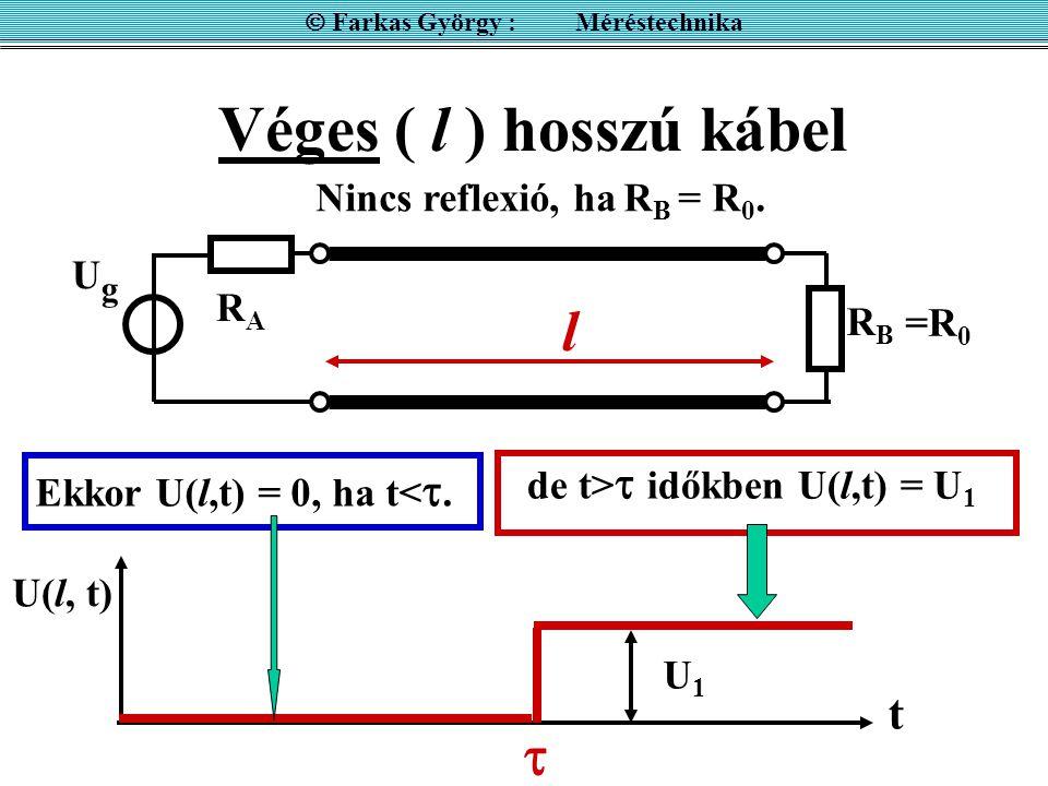  Farkas György : Méréstechnika de t> időkben U(l,t) = U1