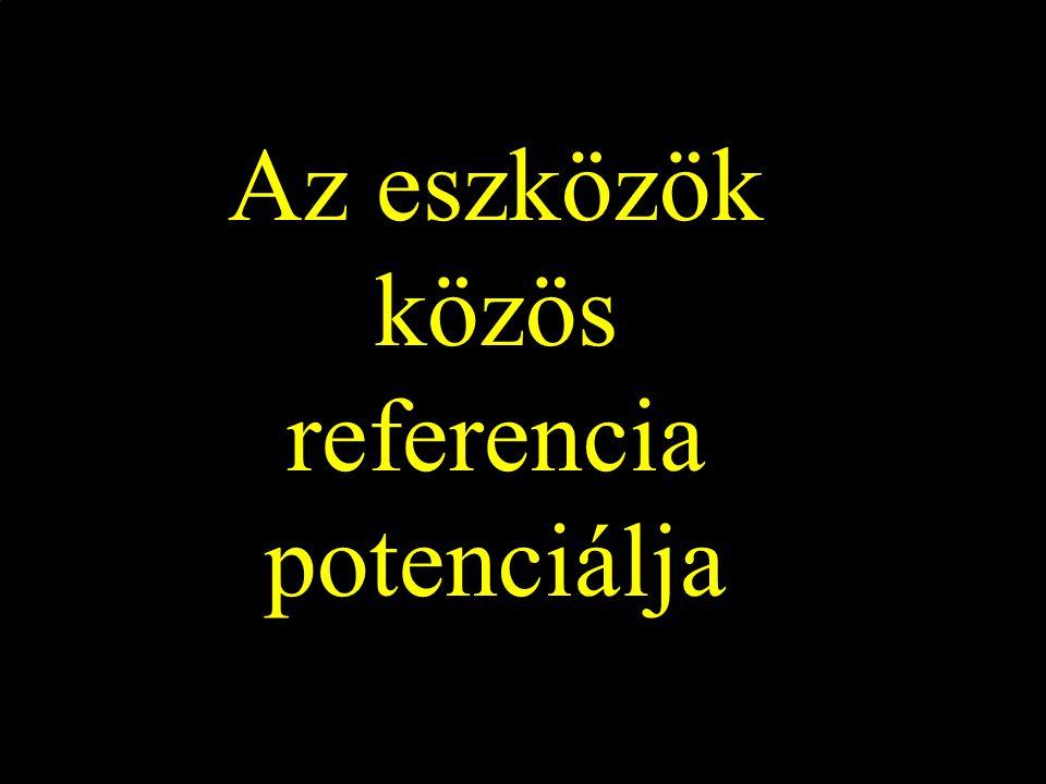 Az eszközök közös referencia potenciálja