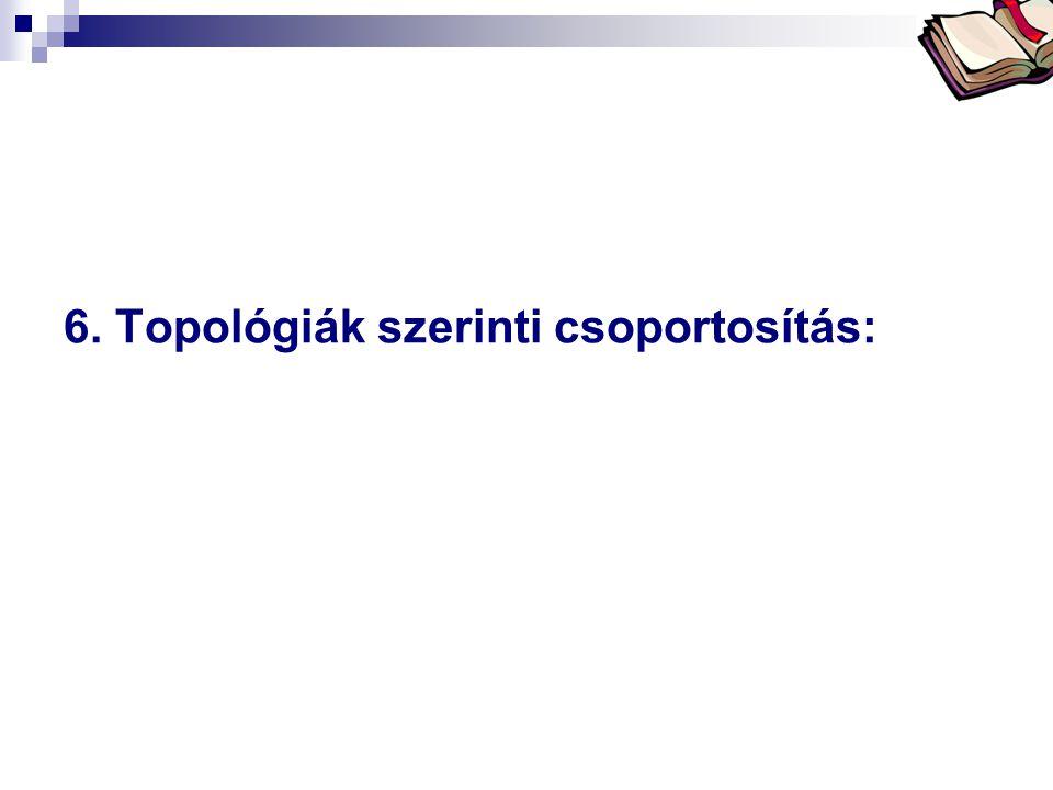 6. Topológiák szerinti csoportosítás: