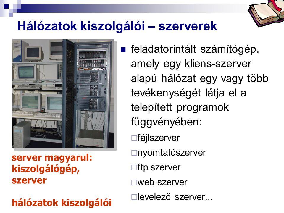 Hálózatok kiszolgálói – szerverek