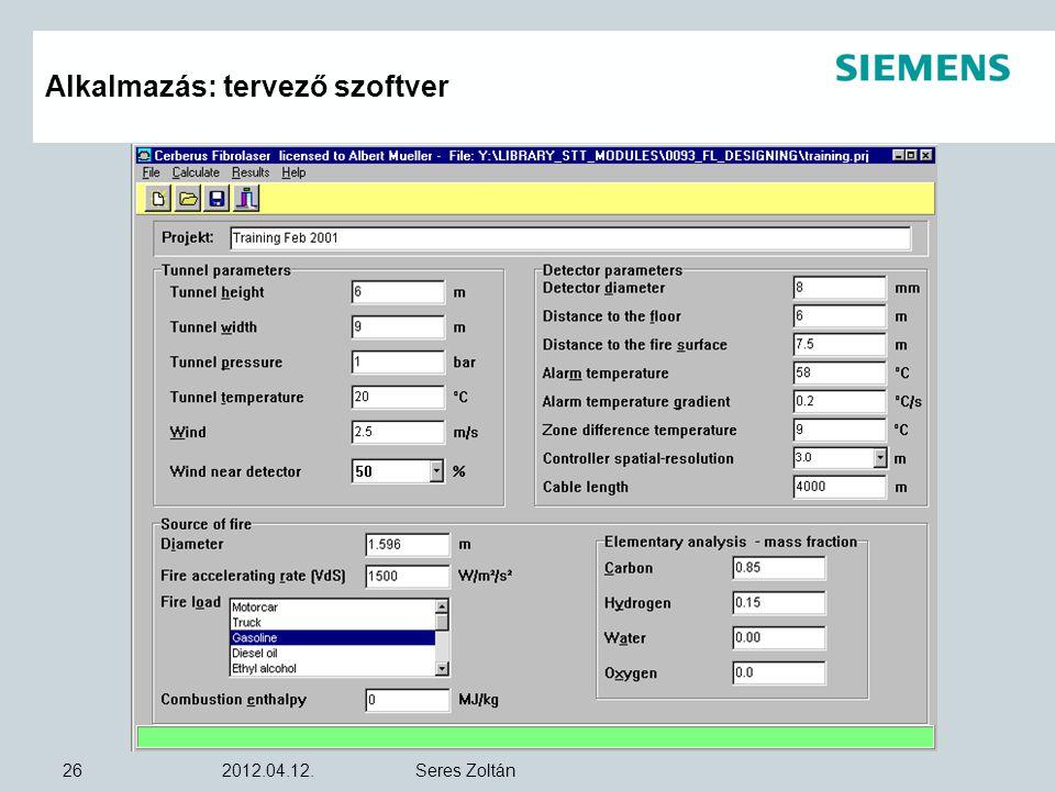 Alkalmazás: tervező szoftver