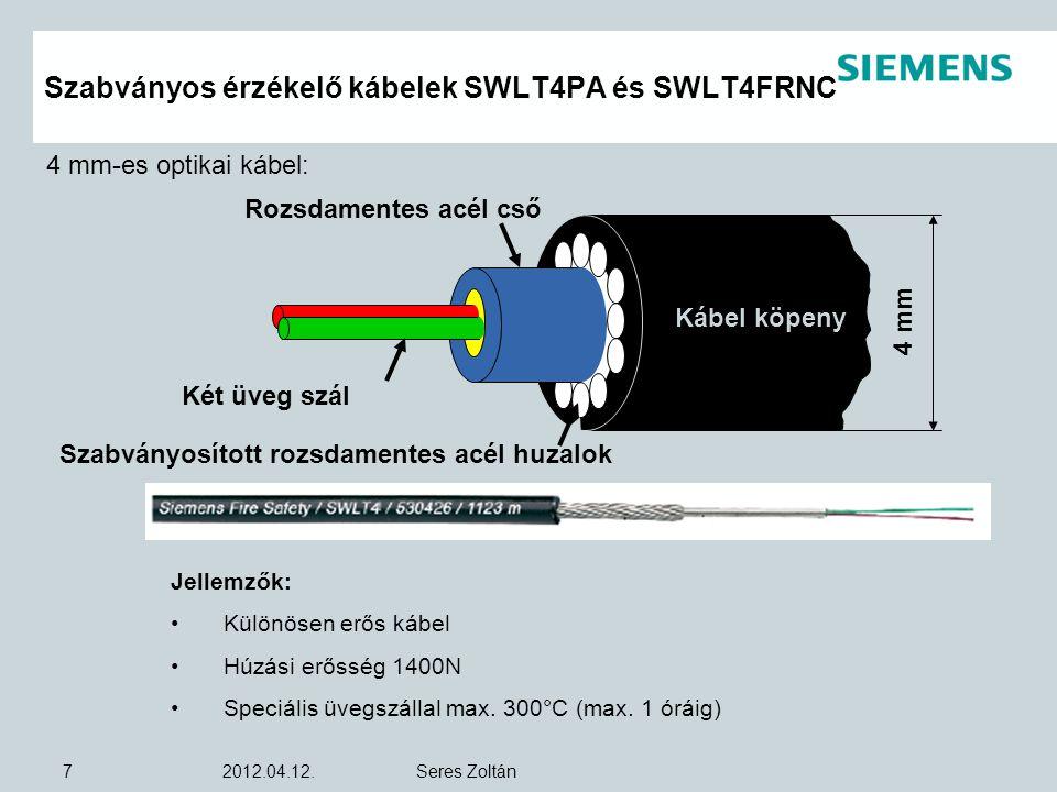 Szabványos érzékelő kábelek SWLT4PA és SWLT4FRNC