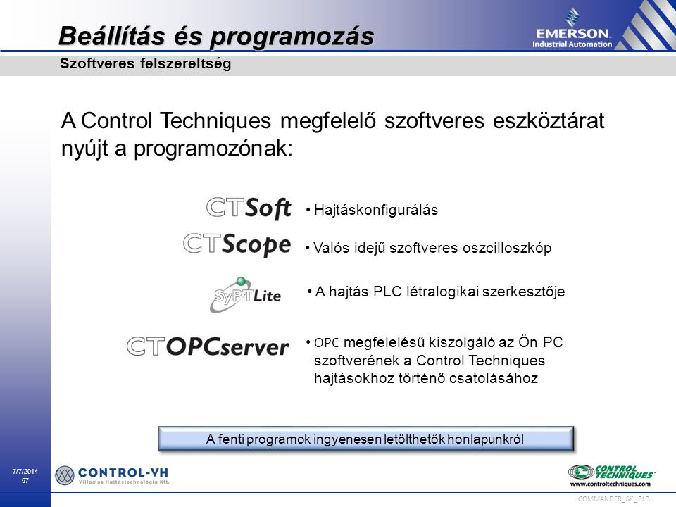 Beállítás és programozás