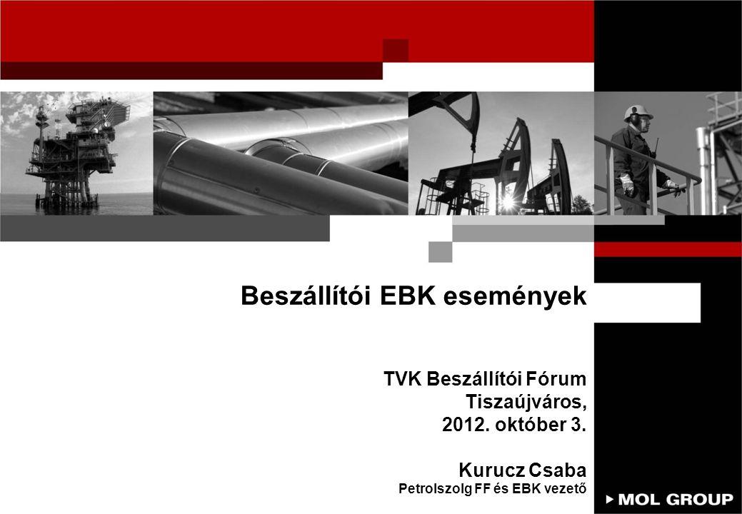 Beszállítói EBK események