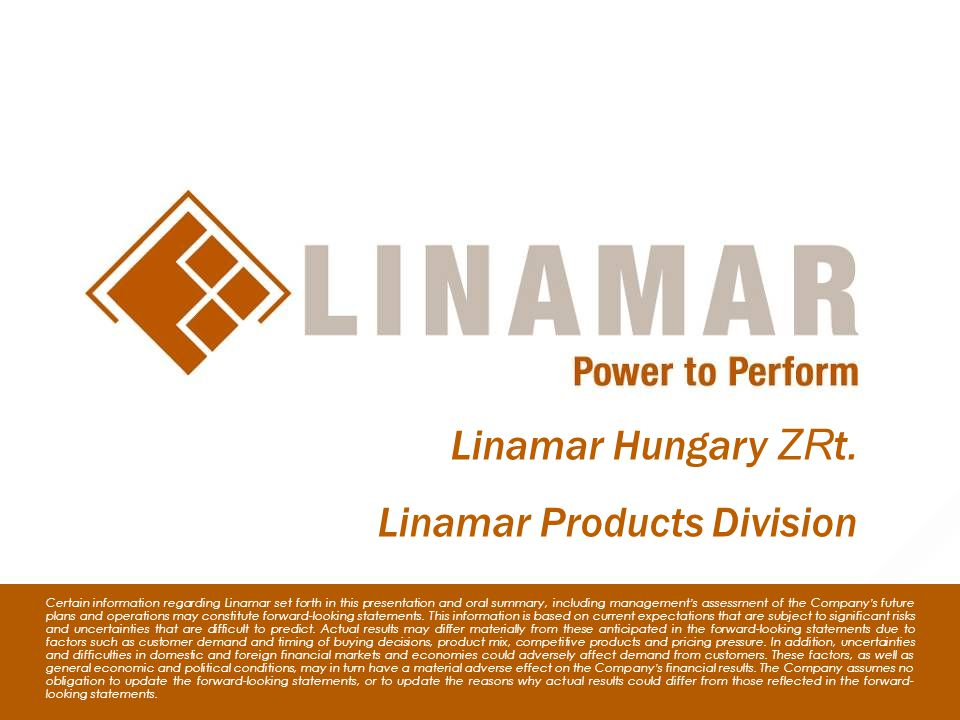 Linamar Products Division