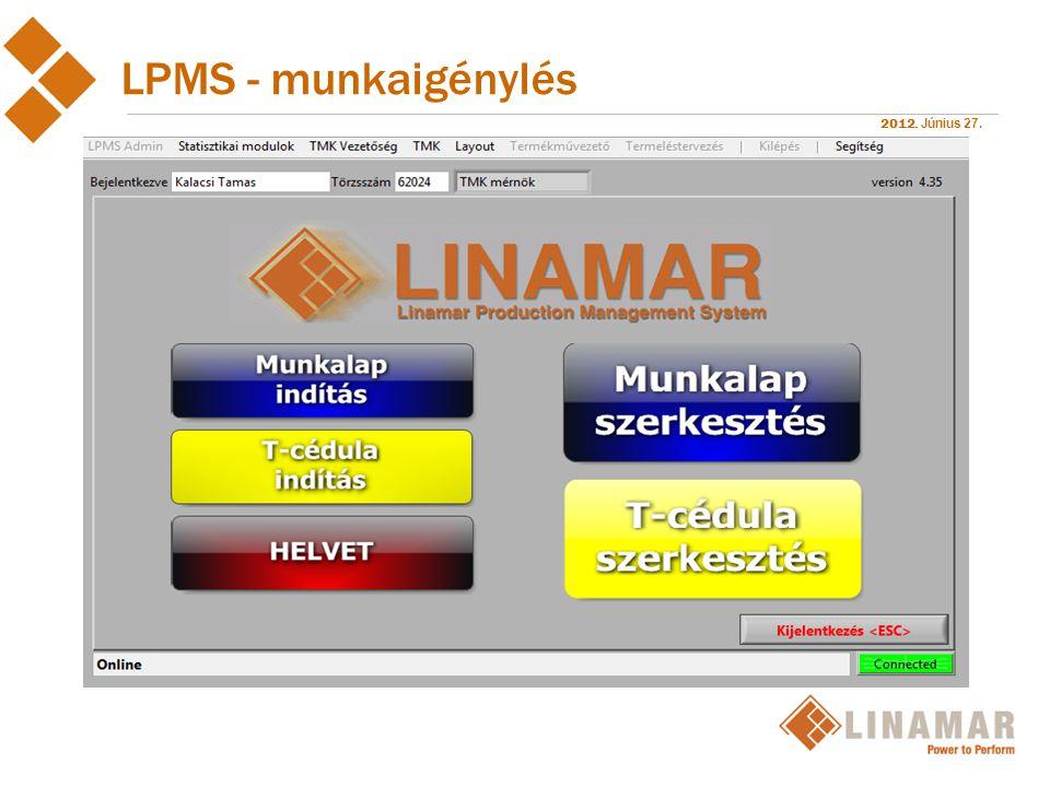 LPMS - munkaigénylés