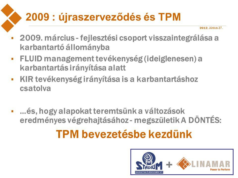 2009 : újraszerveződés és TPM