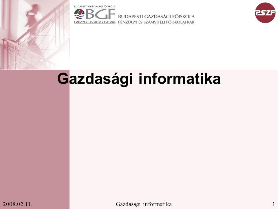 Gazdasági informatika
