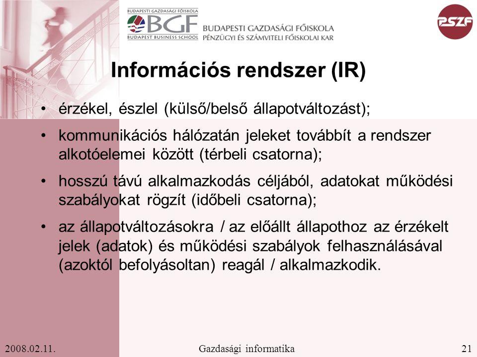 Információs rendszer (IR)