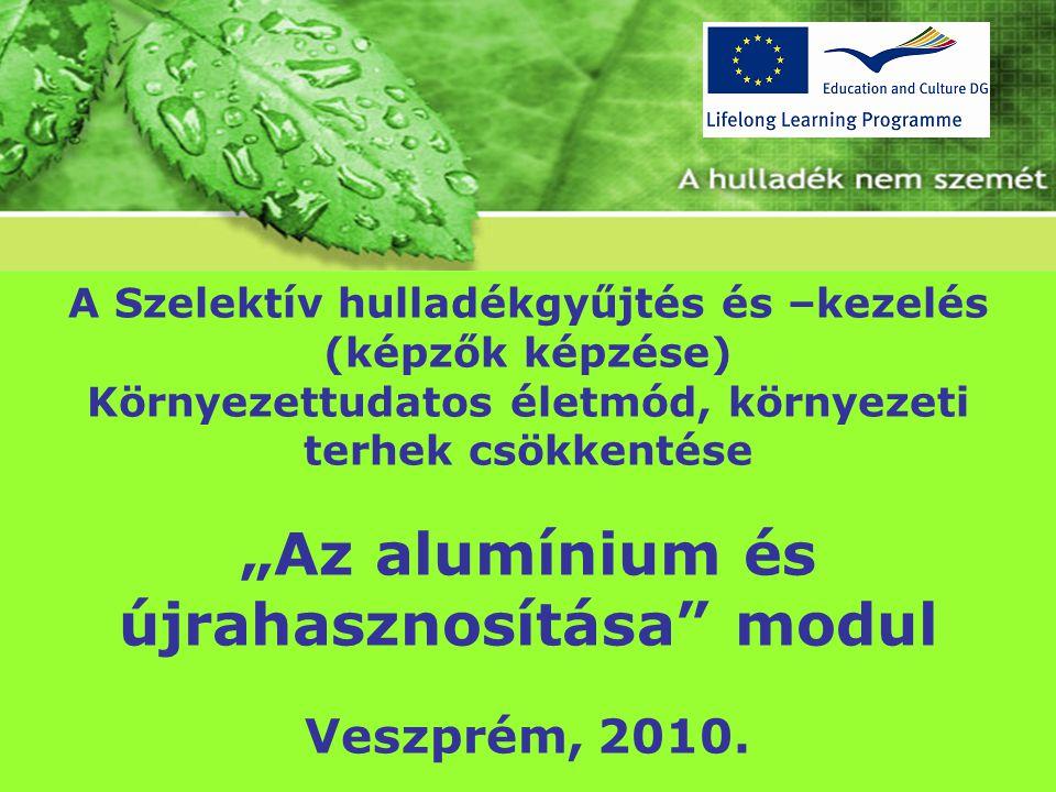 """""""Az alumínium és újrahasznosítása modul"""