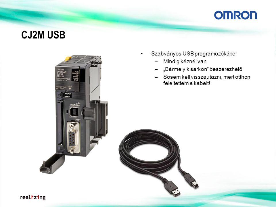 CJ2M USB Szabványos USB programozókábel Mindig kéznél van