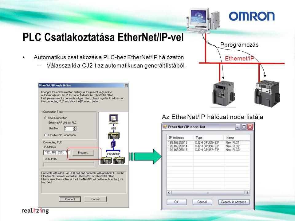 PLC Csatlakoztatása EtherNet/IP-vel