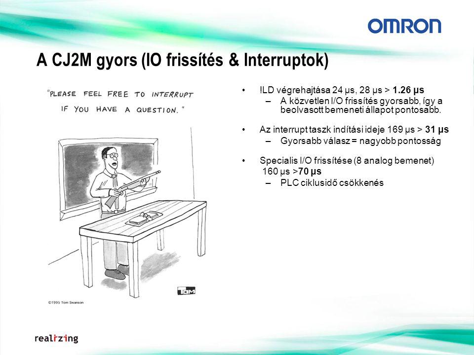 A CJ2M gyors (IO frissítés & Interruptok)