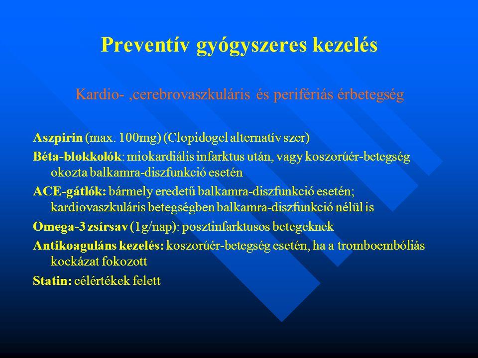 Preventív gyógyszeres kezelés