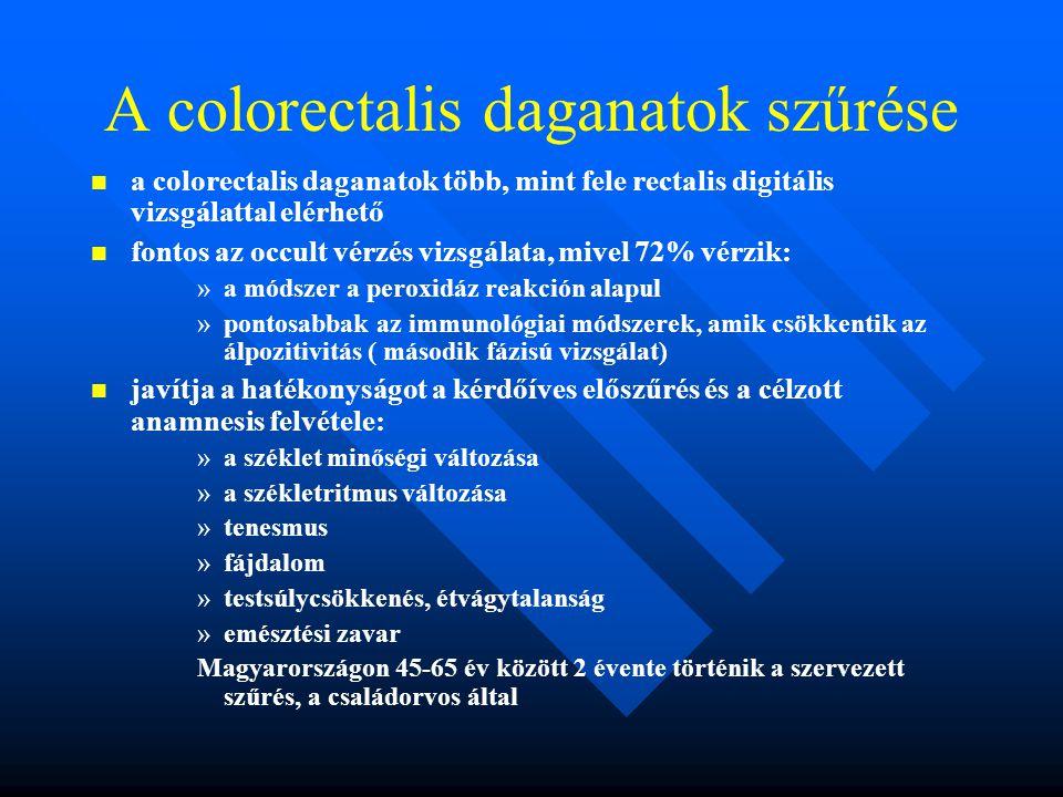 A colorectalis daganatok szűrése