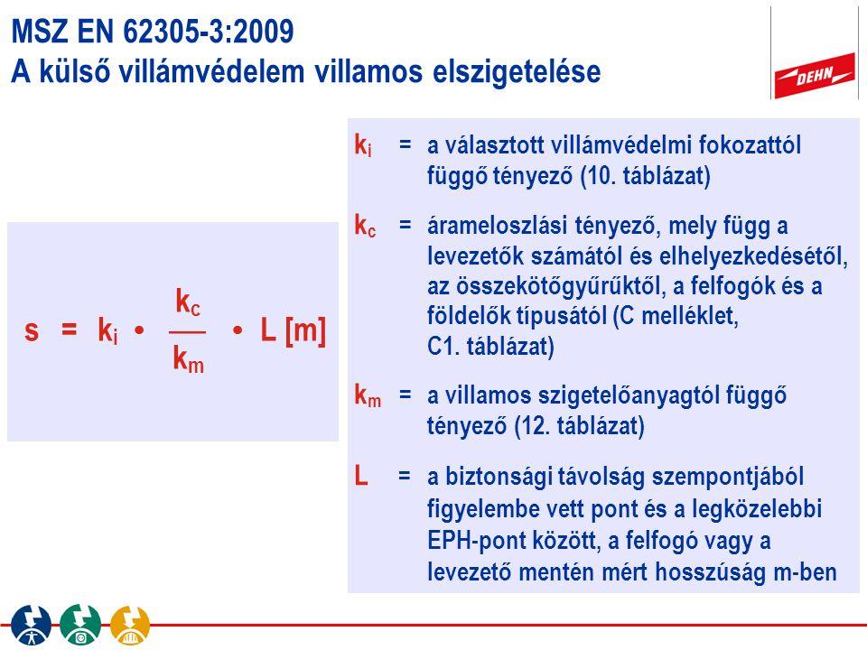 MSZ EN 62305-3:2009 A külső villámvédelem villamos elszigetelése