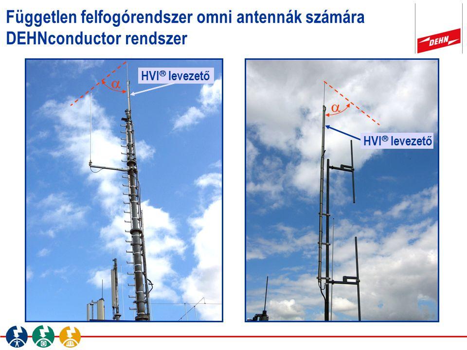 Független felfogórendszer omni antennák számára DEHNconductor rendszer