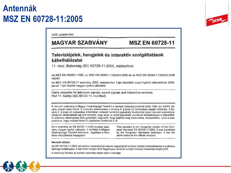 Antennák MSZ EN 60728-11:2005 Beitrag - Autor