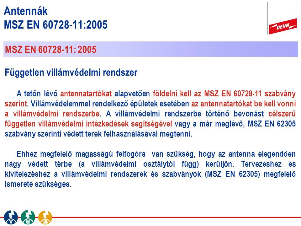 Antennák MSZ EN 60728-11:2005 MSZ EN 60728-11: 2005