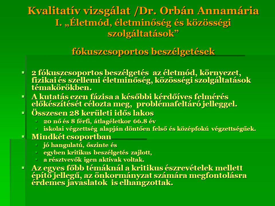 Kvalitatív vizsgálat /Dr. Orbán Annamária I