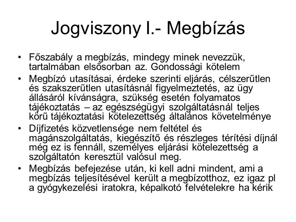 Jogviszony I.- Megbízás