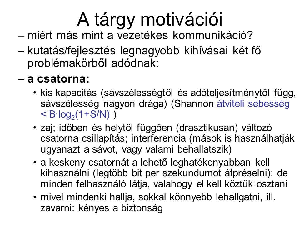 A tárgy motivációi miért más mint a vezetékes kommunikáció