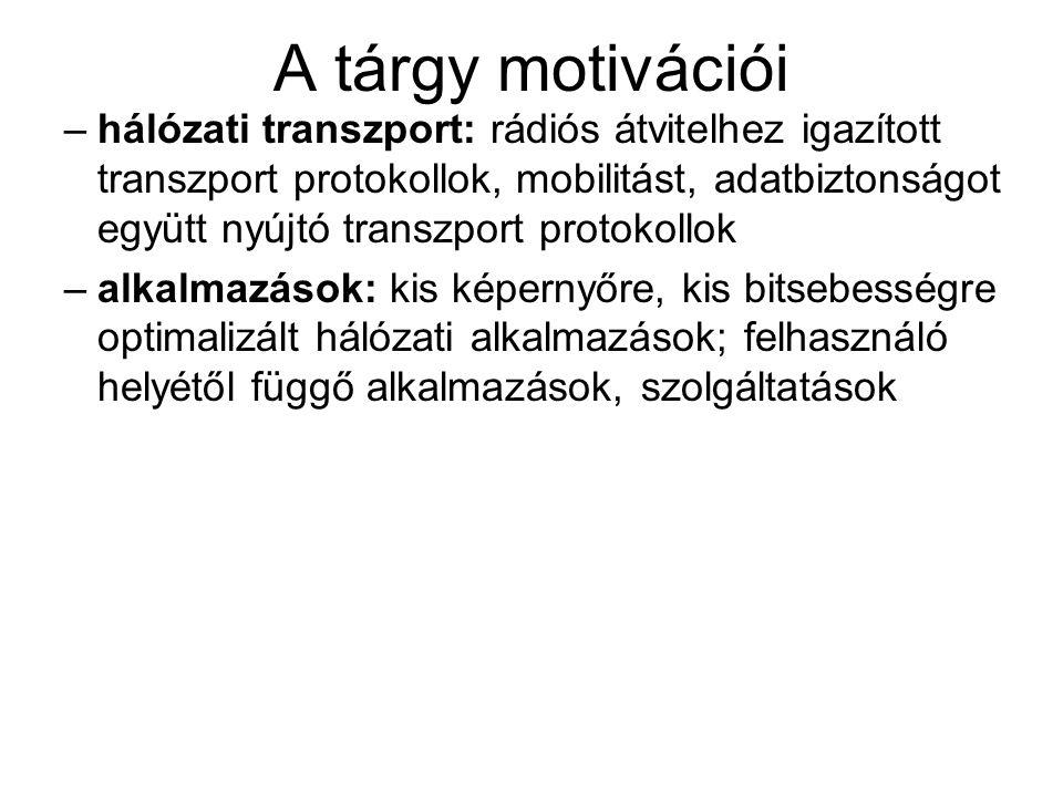 A tárgy motivációi