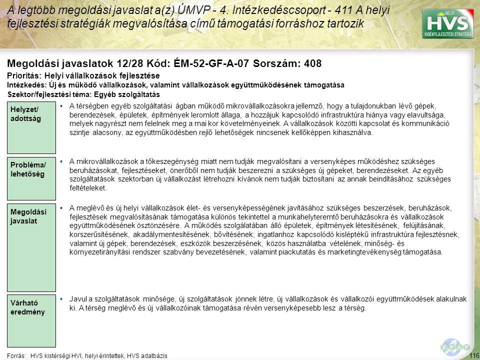 Megoldási javaslatok 12/28 Kód: ÉM-52-GF-A-07 Sorszám: 408