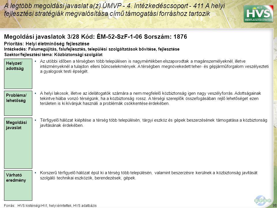 Megoldási javaslatok 3/28 Kód: ÉM-52-SzF-1-06 Sorszám: 1876