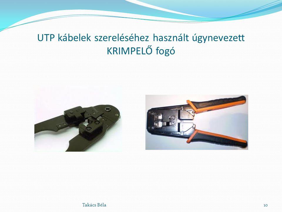 UTP kábelek szereléséhez használt úgynevezett KRIMPELŐ fogó
