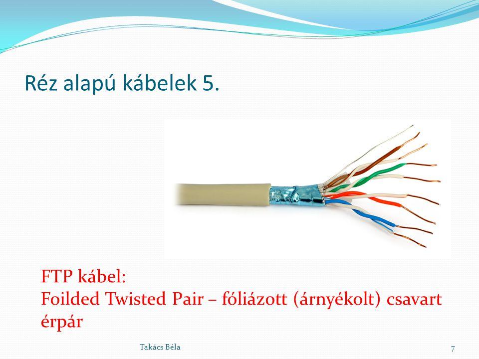 Réz alapú kábelek 5. FTP kábel: