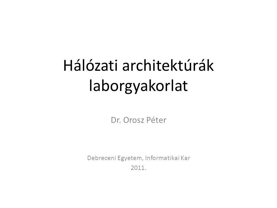 Hálózati architektúrák laborgyakorlat