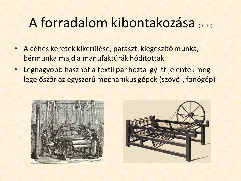 A forradalom kibontakozása (textil)