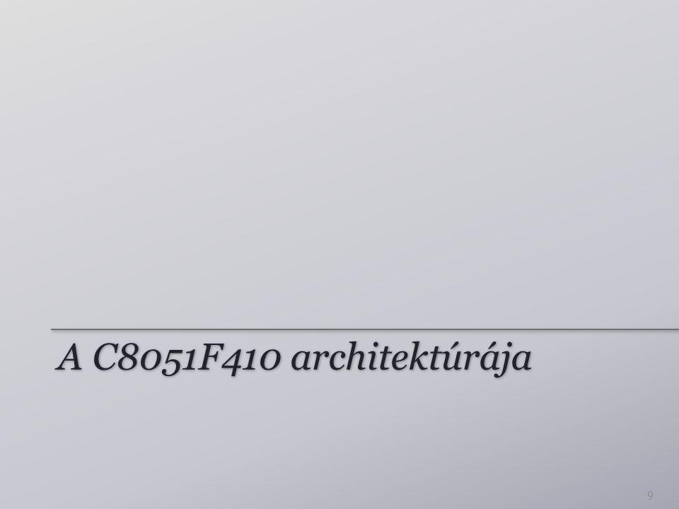A C8051F410 architektúrája