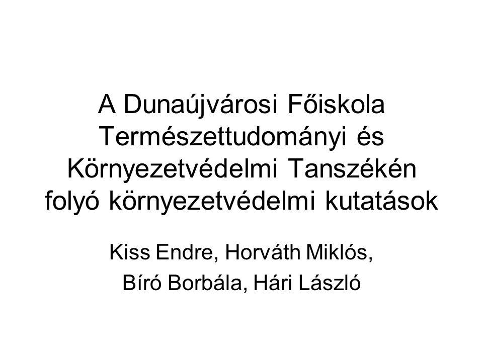 Kiss Endre, Horváth Miklós, Bíró Borbála, Hári László
