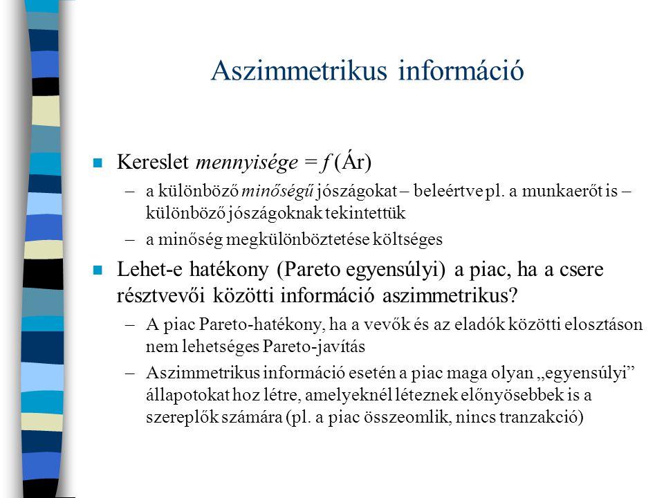 Aszimmetrikus információ