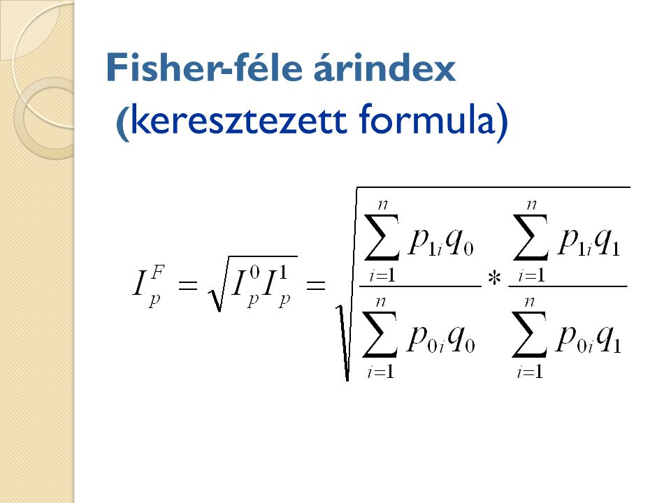 Fisher-féle árindex (keresztezett formula)
