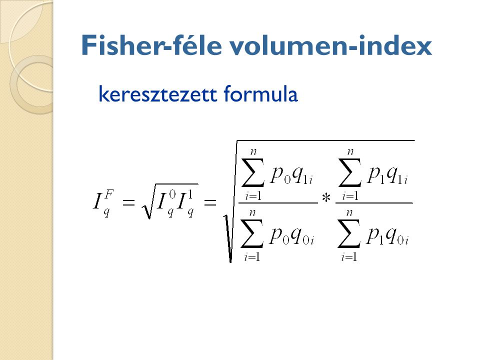 Fisher-féle volumen-index