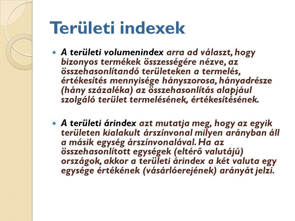 Területi indexek