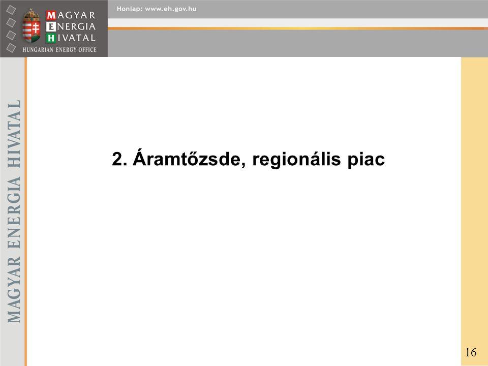 2. Áramtőzsde, regionális piac