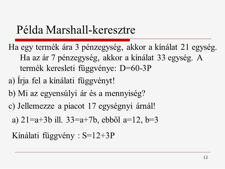 Példa Marshall-keresztre