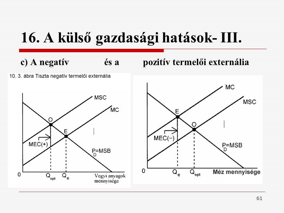 16. A külső gazdasági hatások- III.