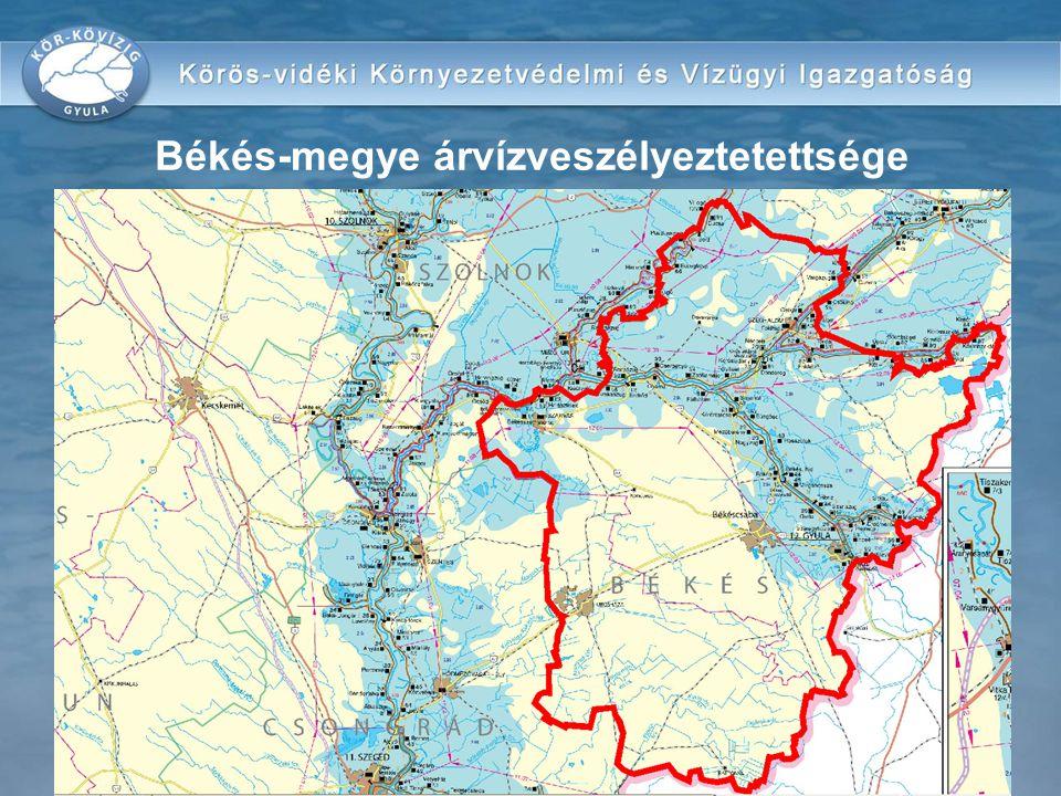 Békés-megye árvízveszélyeztetettsége