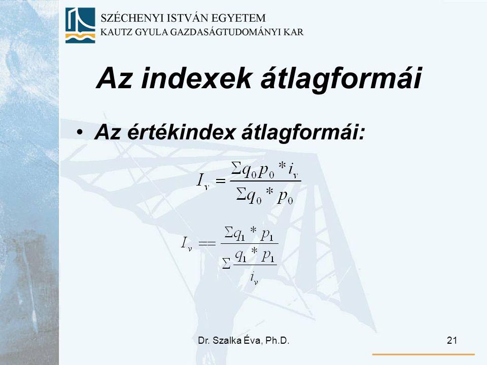 Az indexek átlagformái