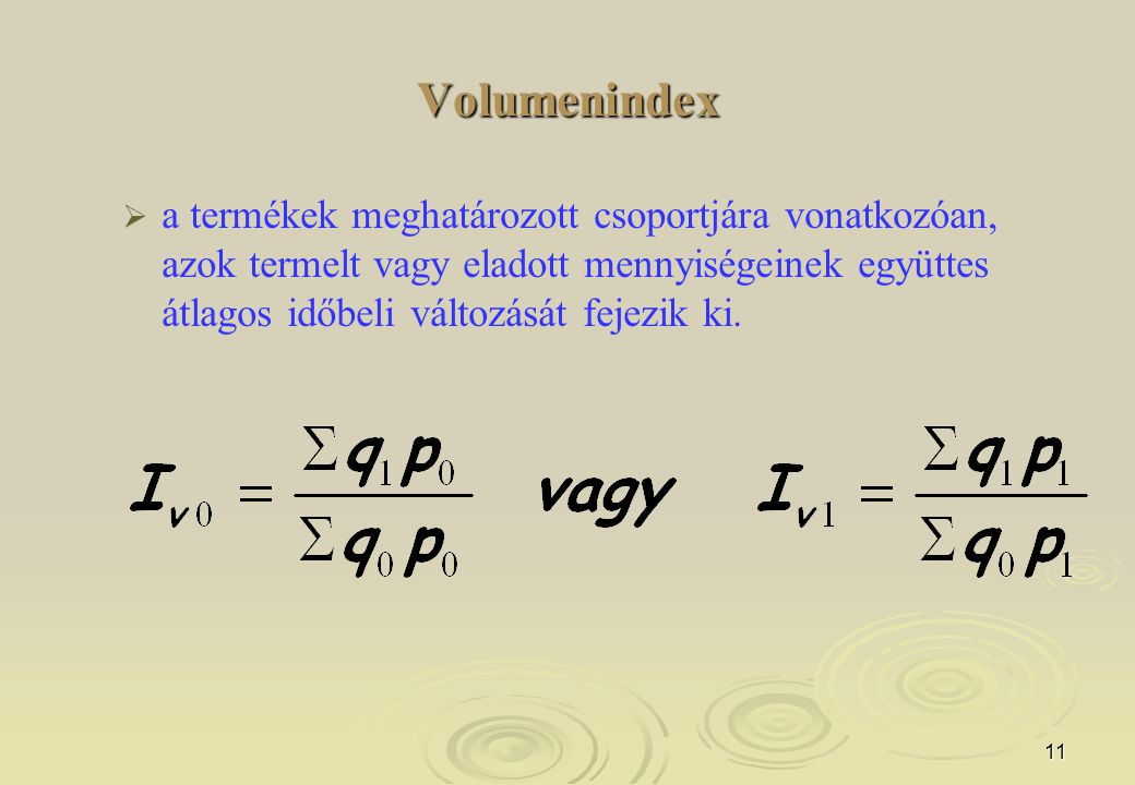 Volumenindex