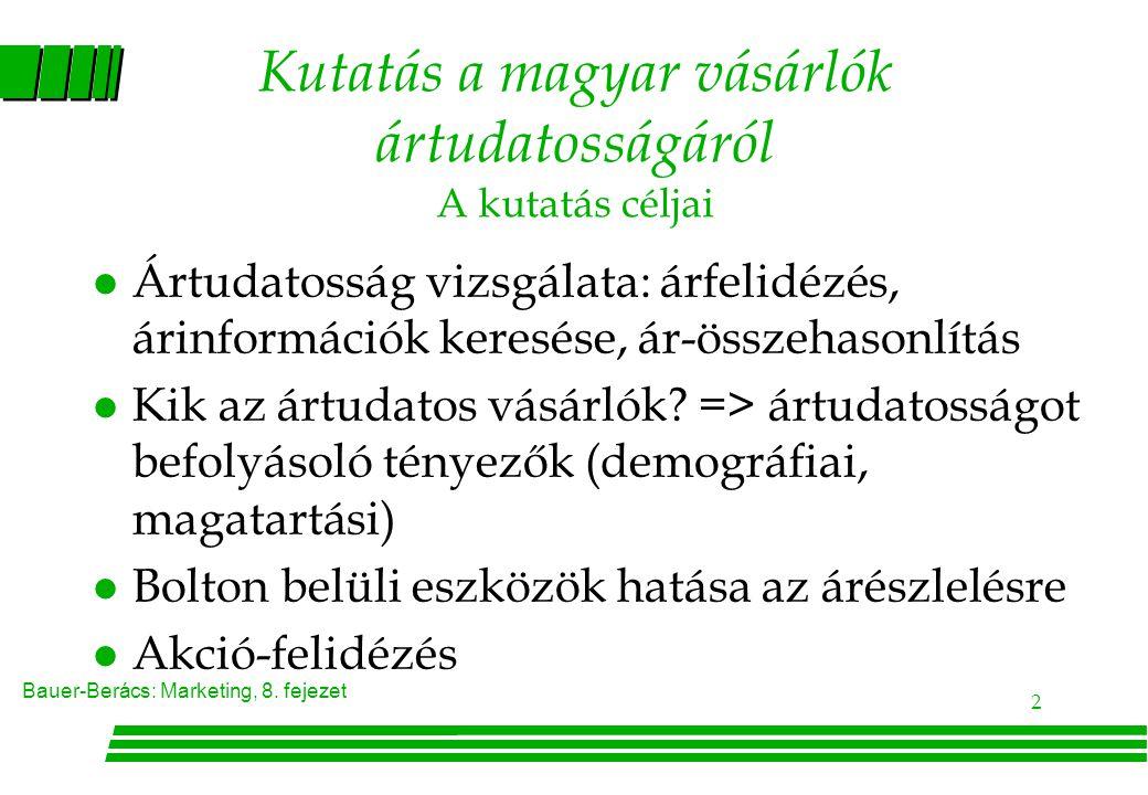 Kutatás a magyar vásárlók ártudatosságáról A kutatás céljai