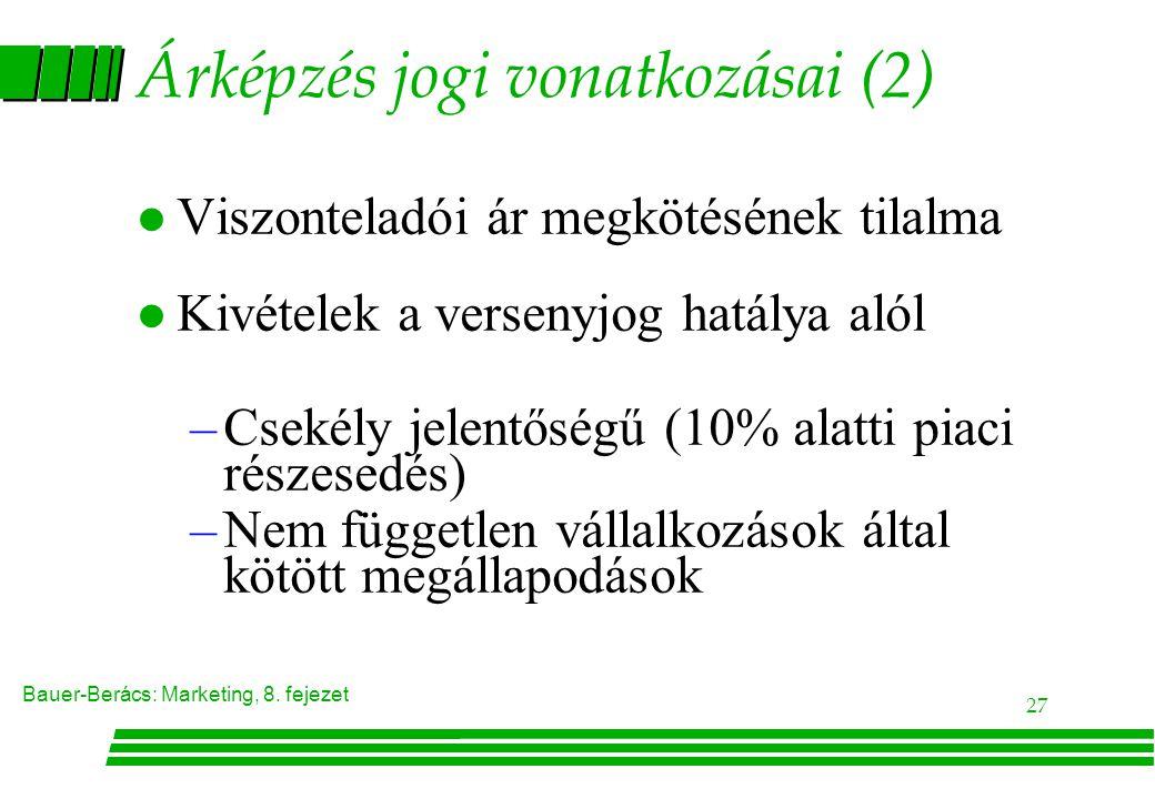 Árképzés jogi vonatkozásai (2)